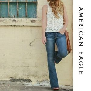 American Eagle Boho Flare Stretch Jeans 12 X Long